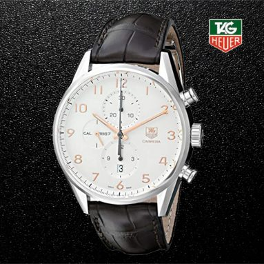 TAG Heuer Men's CAR2012.FC6236 Carrera Analog Display Swiss Automatic Brown Alligator Leather Watch